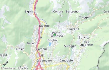 Stadtplan Ponte Capriasca