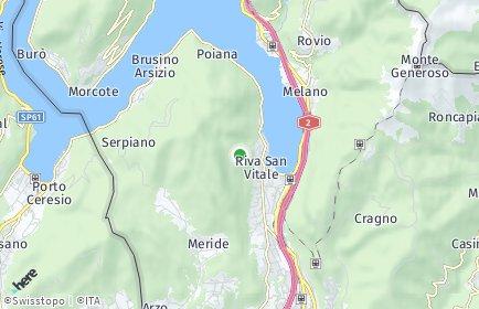 Stadtplan Riva San Vitale
