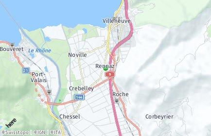 Stadtplan Rennaz