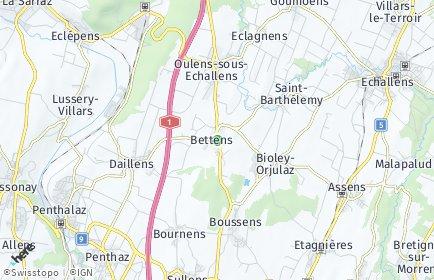 Stadtplan Bettens
