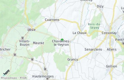 Stadtplan Chavannes-le-Veyron