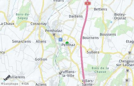 Stadtplan Penthaz