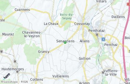 Stadtplan Senarclens