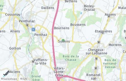 Stadtplan Sullens