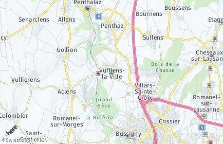 Stadtplan Vufflens-la-Ville