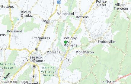 Stadtplan Bretigny-sur-Morrens