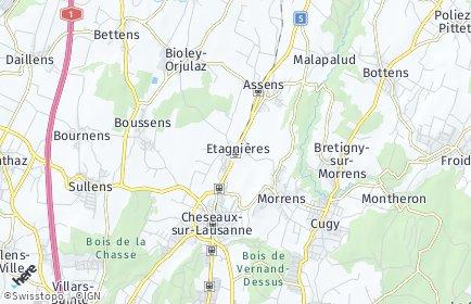 Stadtplan Etagnières