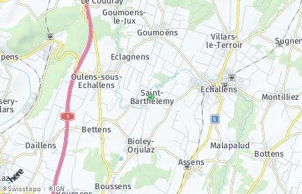Stadtplan Saint-Barthélemy (VD)