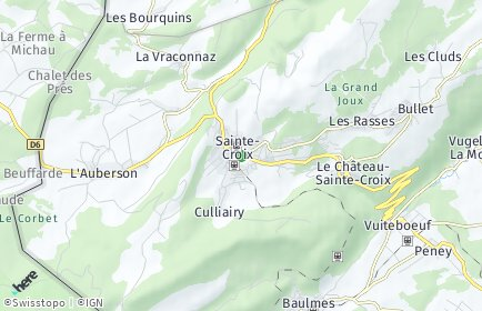 Stadtplan Sainte-Croix