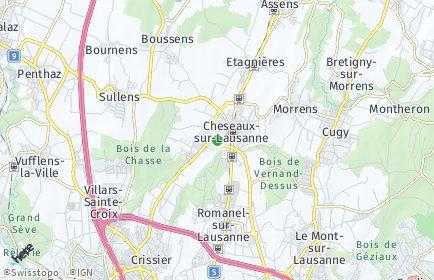 Stadtplan Cheseaux-sur-Lausanne