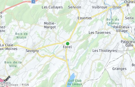 Stadtplan Forel (Lavaux)