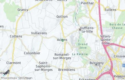Stadtplan Aclens
