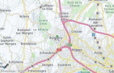 Stadtplan Bussigny-près-Lausanne