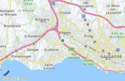 Stadtplan Chavannes-près-Renens