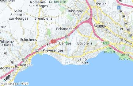 Stadtplan Denges