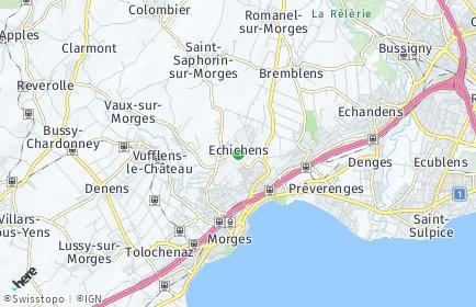Stadtplan Echichens