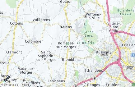 Stadtplan Romanel-sur-Morges