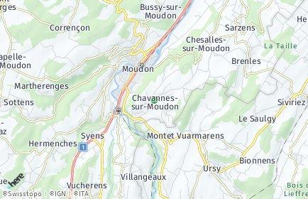 Stadtplan Chavannes-sur-Moudon