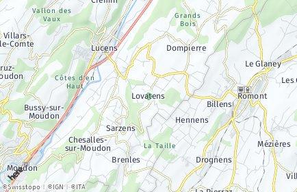 Stadtplan Lovatens