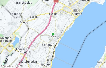 Stadtplan Crans-près-Céligny