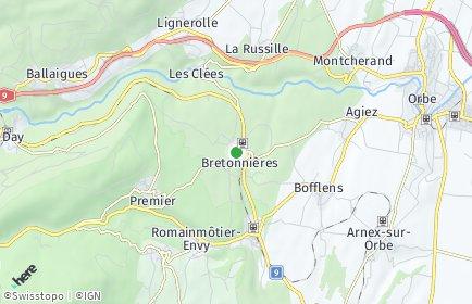 Stadtplan Bretonnières