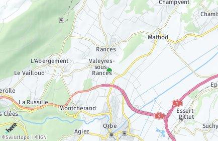 Stadtplan Valeyres-sous-Rances
