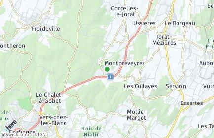Stadtplan Montpreveyres