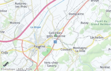 Stadtplan Corcelles-près-Payerne