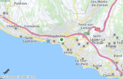 Stadtplan Corseaux