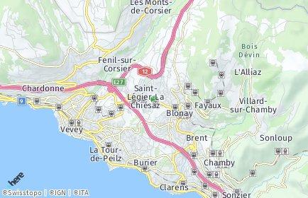 Stadtplan Saint-Légier-La Chiésaz