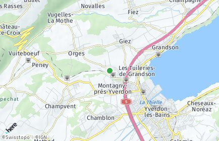 Stadtplan Valeyres-sous-Montagny