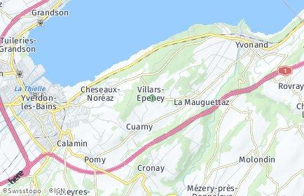 Stadtplan Villars-Epeney