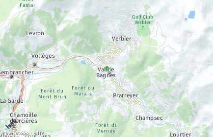 Stadtplan Bagnes