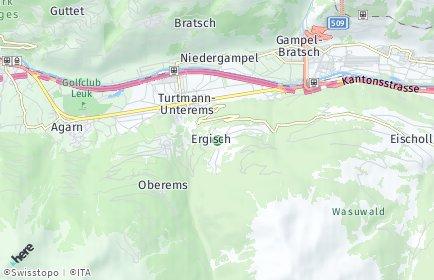 Stadtplan Ergisch