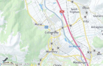 Stadtplan Collombey-Muraz
