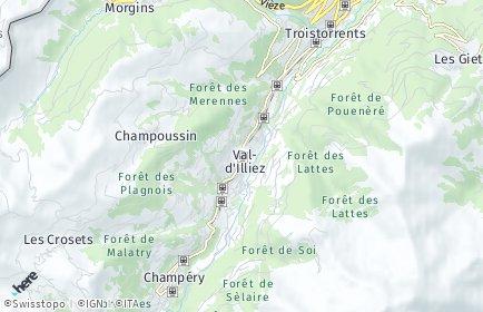 Stadtplan Val-d'Illiez