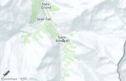 Stadtplan Saas-Almagell