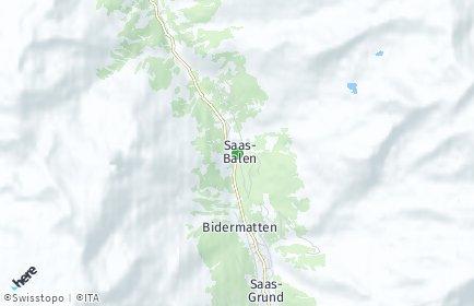 Stadtplan Saas-Balen