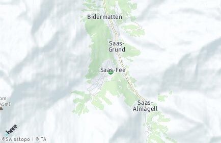 Stadtplan Saas-Fee