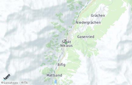 Stadtplan Sankt Niklaus