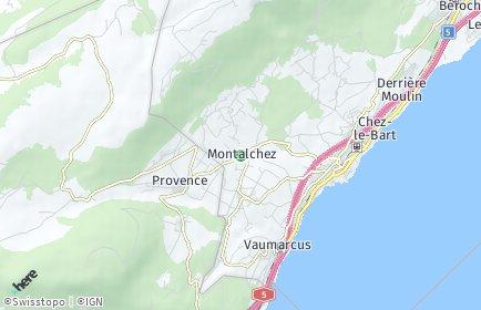 Stadtplan Montalchez