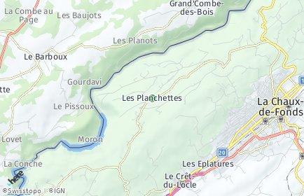 Stadtplan Les Planchettes