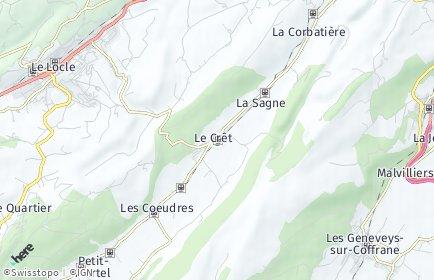Stadtplan La Sagne