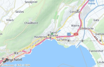 Stadtplan Saint-Blaise