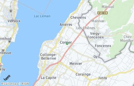 Stadtplan Corsier (GE)