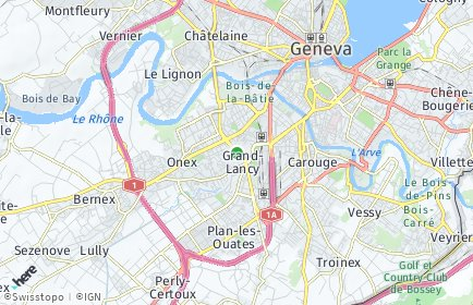 Stadtplan Lancy OT Grand-Lancy