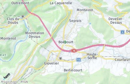 Stadtplan Boécourt