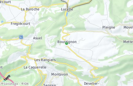 Stadtplan Bourrignon