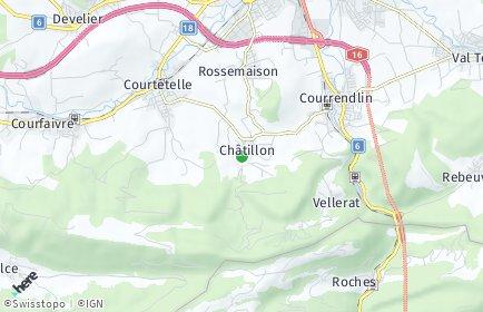 Stadtplan Châtillon (JU)