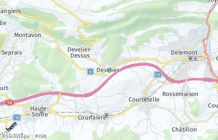Stadtplan Develier